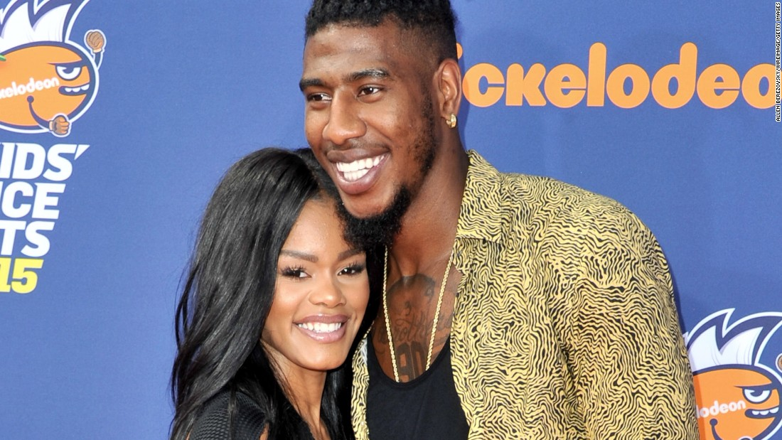 """Singer-actress Teyana Taylor and NBA player Iman Shumpert <a href=""""http://bleacherreport.com/articles/2600128-cavs-iman-shumpert-delivers-baby-when-fiancee-goes-into-labor-in-bathroom?utm_source=cnn.com&utm_medium=referral&utm_campaign=editorial"""" target=""""_blank"""">welcomed a baby girl</a> December 16. Shumpert himself caught the baby, who was so eager to make her entrance that she greeted her parents unexpectedly at home before an ambulance arrived. The little girl's name is Iman Jr., according to a post on Taylor's Instagram account."""