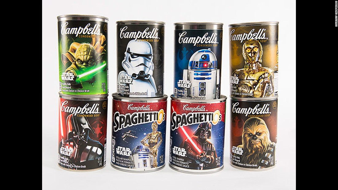 "A hungry Jedi can enjoy Campbell's ""Star Wars""-themed soups."