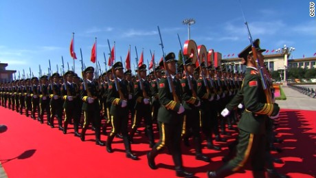 China parades military hardware in streets of Beijing