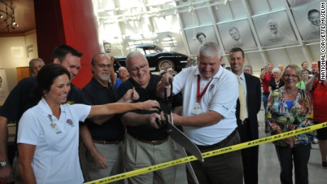 Officials re-opened the repaired Skydome at the National Corvette Museum on Thursday.