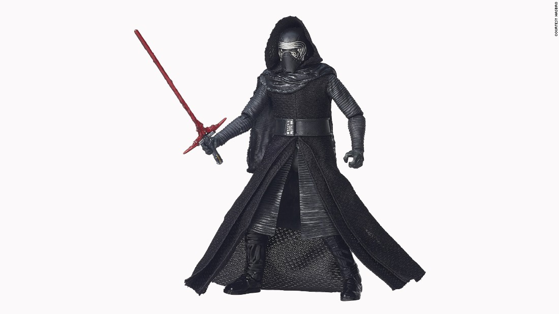 The villainous Kylo Ren is a highly sought after action figure.