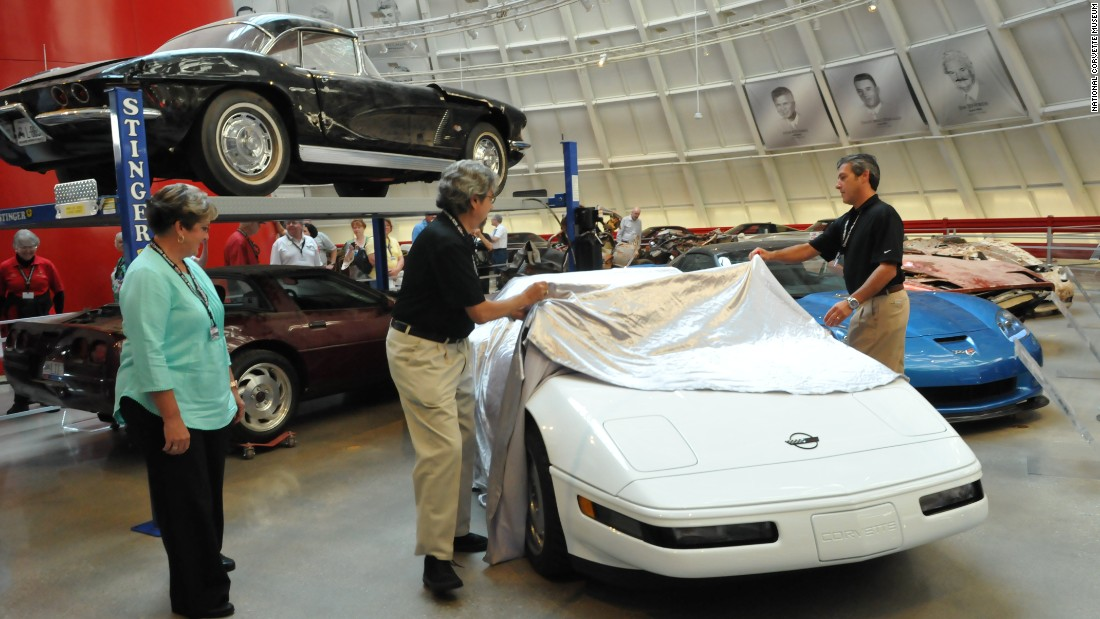 Almost two years after it was swallowed by a sinkhole, the restored 1 millionth Corvette was unveiled at a ceremony Thursday. Angela Lamb, who helped build the car 23 years ago, joined Corvette designer John Cafaro and GM's Dave Bolognino to do the honors. Click through the gallery to see before and after photos of this irreplaceable automotive icon.