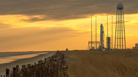 a story on a new NASA report that says more than half of the agency's rocket launch sites are in coastal areas threatened by rising sea levels.