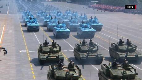 China parades huge military