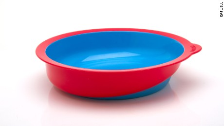 Eatwell tableware set red bowl, featuring a slanted basin