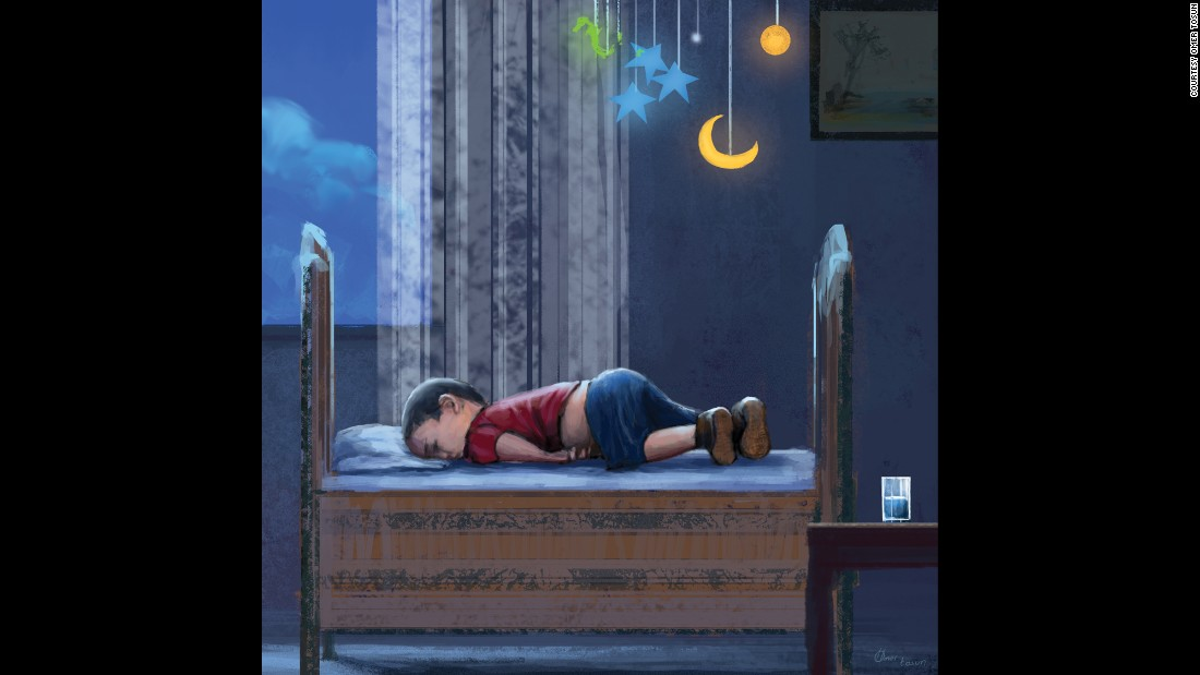 "Turkish artist <a href=""https://twitter.com/_omertos/status/639122475826212864"" target=""_blank"">Omer Tosun</a> shared this illustration on Twitter with the caption, translated to English, ""I am only dreaming of what could have been, I think this expresses what a shame it is."""