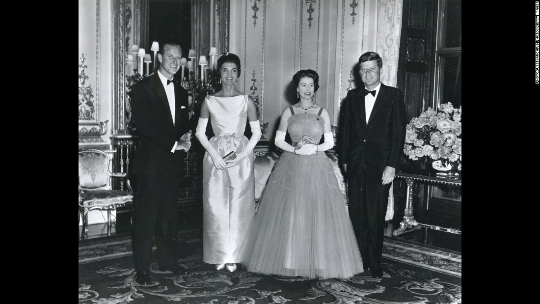 "John F. Kennedy<br />Years in office: 1961 - 1963<br />Amid much fanfare and huge media interest, President John F. Kennedy was a dinner guest along with his wife, Jackie, at Buckingham Palace in June 1961. He later wrote that he would ""cherish the memory of that delightful evening,"" in a birthday letter written to the Queen. He added: ""The people of the United States join with me in extending to your Majesty and to the people of the Commonwealth best wishes and hearty congratulations on the occasion of the celebration of your birthday... May I also at the same time say how grateful my wife and I are for the cordial hospitality offered to us by your Majesty and Prince Phillip during our visit to London last Monday. We shall always cherish the memory of that delightful evening.""<br />"