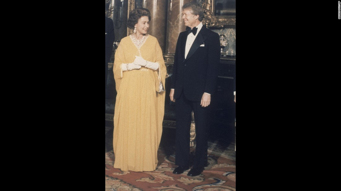"Jimmy Carter<br />Years in office: 1977 - 1981<br />During a 1977 dinner of foreign heads of state at Buckingham Palace, former President Jimmy Carter described the home of the British monarch as ""one of the most beautiful places I've ever seen. And I think the whole royal family was there... I had a good place to sit -- I was between the Queen and Princess Margaret and across the table was Prince Charles and Prince Philip and the Queen Mother."" He continued: ""Well, one of the things I told Queen Elizabeth was how much the American people appreciated her coming over last year to celebrate our 200th birthday. And she said that it was one of the warmest welcomes she'd ever received.""<br />"