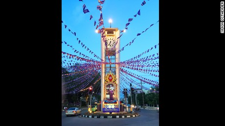 Trang's clock tower is a popular meeting point for locals.