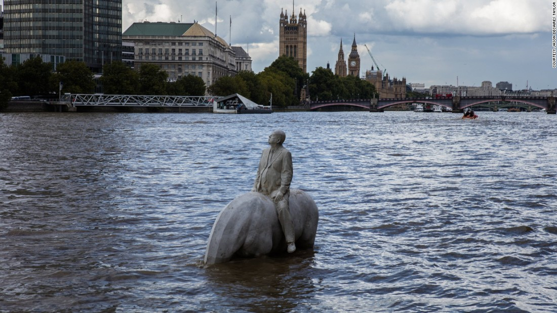 """The location is fundamental to the work,"" Taylor says. ""Not only does it provide a disturbing metaphor for rising sea levels, demonstrating how little time we have to act, but crucially it offers hope for the future as it resets itself each day,"" he said.<br /><br />""With both the houses of Parliament and the Shell headquarters in close proximity, I hope [<em>Rising Tide</em>] offers a stark reminder that fossil fuels clearly are not the future and we should be investing in a sustainable future, not looking into fracking or oil exploration in Antarctica,"" Taylor says."