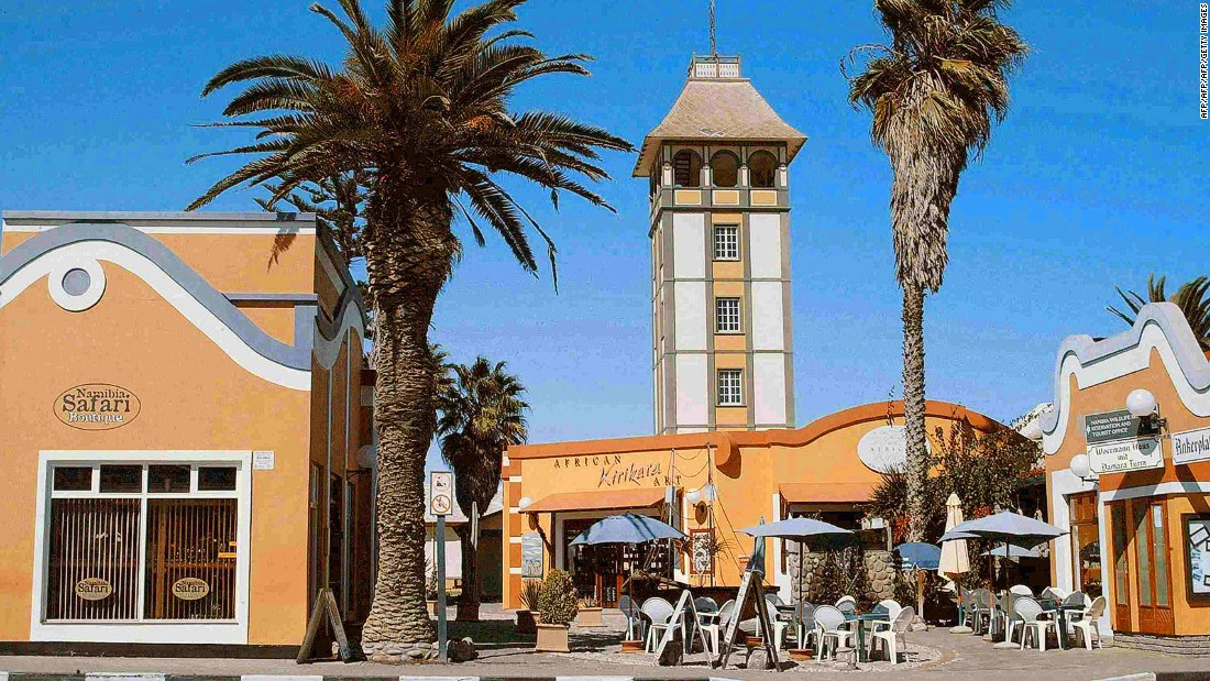 Swakopmund is known as a popular destination for Namibia fans Angelina Jolie and Brad Pitt. There's a Brauhaus Restaurant and an annual Oktoberfest.