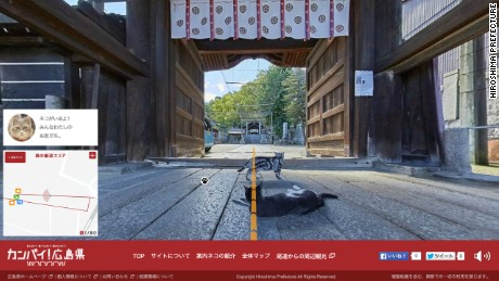 Hiroshima has created a map simulating the perspective of cats.