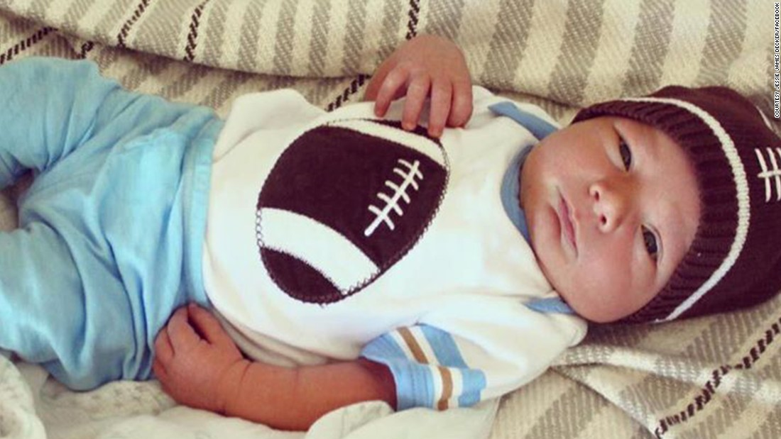Country singer Jessie James Decker and her husband, Eric Decker of the New York Jets, welcomed Eric Thomas Decker ll on September 3. The singer showed off her newest addition on Facebook.