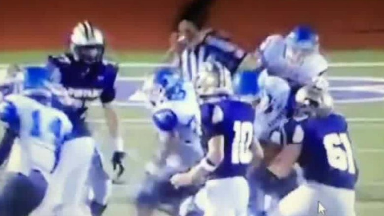 Football players suspended for doing this to ref