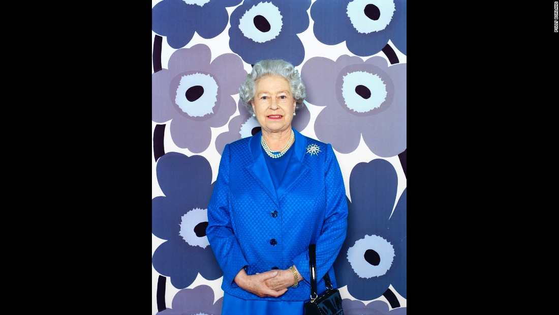 The Palace didn't choose a photo of the Queen with this flower backdrop, but one later appeared on the cover of The Sunday Times Magazine.