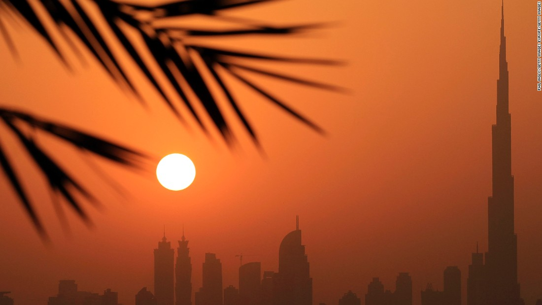 Palm trees and dizzying skyscrapers -- welcome to Dubai. This view from the clubhouse terrace at Al Badia Golf Club underlines what weather you can expect most of the year in the Emirate.