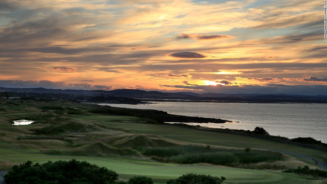 Who said Scotland doesn't do sunsets?! This stunning skyline comes from the east coast and The Fairmont St Andrews Bay Golf Resort -- just a stone's throw from the original St Andrew's Links, the home of golf.