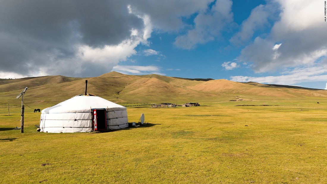 While Mongolia's landscape has changed little over the centuries, the nomadic lifestyle is slowly changing.<br />Instead of using horses to herd their livestock, some use motorbikes. <br />Instead of using yaks and camels, many nomadic families now use trucks to move their belongings.<br />Most gers -- the traditional tents -- also now have solar panels and satellite dishes.<br />