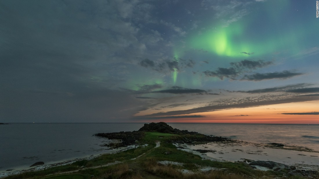 "Lofoten Links' website says ""the sun can be your companion 24 hours."" It's the world's only 18-hole course to offer this for two months of the year."