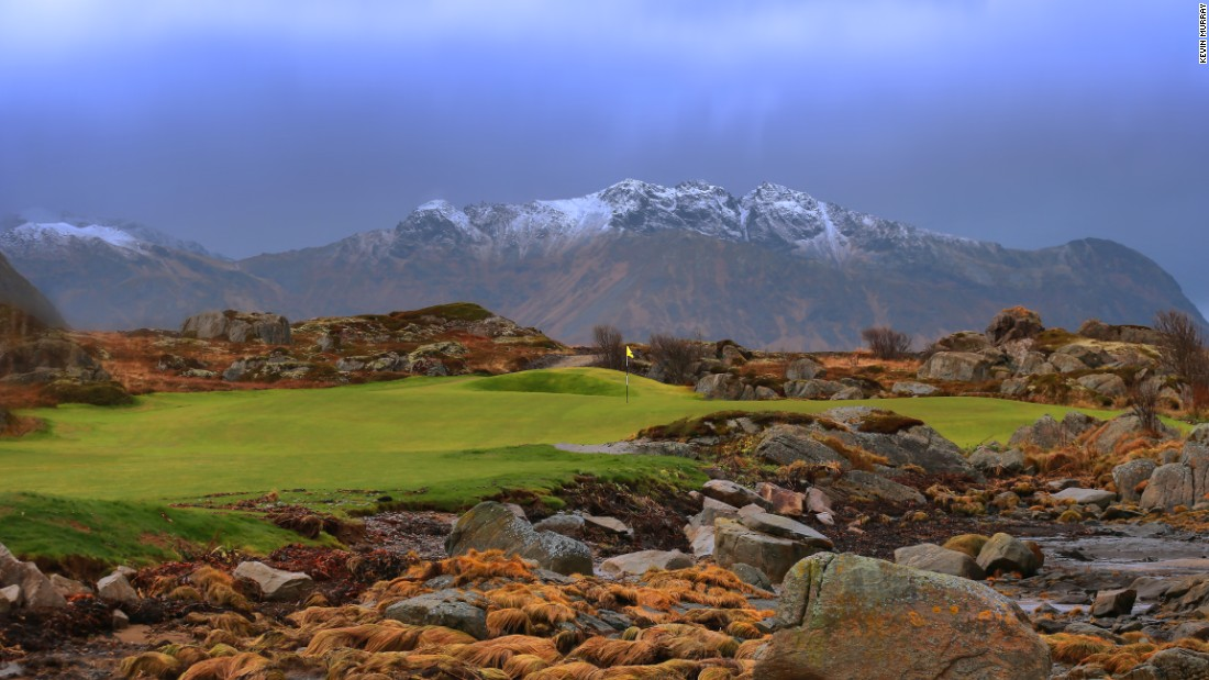 Located 100 miles inside the Arctic Circle, Lofoten Links, Norway, allows golfers to play 24/7 for two months of the year.