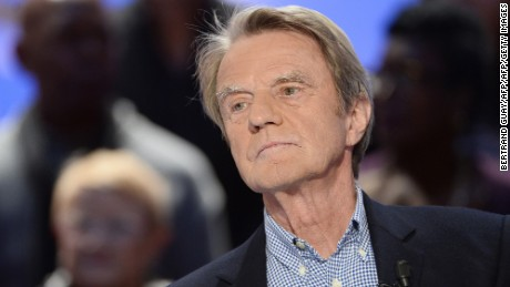 "Former French minister of Foreign Affairs Bernard Kouchner takes part in the TV broadcast of the show ""Le Grand Journal"" as part of the 30th anniversary of French channel Canal Plus on November 4, 2014 in Paris. AFP PHOTO / BERTRAND GUAY        (Photo credit should read BERTRAND GUAY/AFP/Getty Images)"