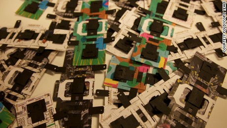 Foldscope is a paper microscope that folds into shape and costs less than a dollar to make.