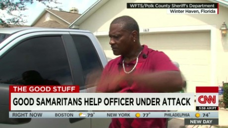 Good Samaritans help officer under attack Good Stuff Newday _00001628