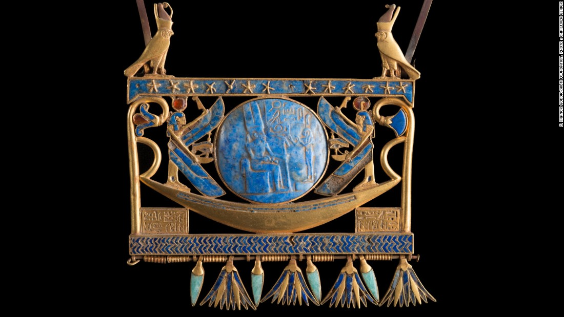 This stunning jewel is another piece on loan from the Egyptian museum in Cairo.