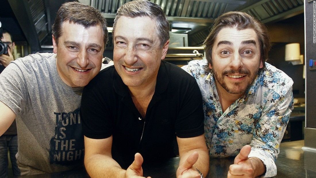 El Celler de Can Roca is run by the three impassionate Roca brothers. From left to right: Josep is head sommelier, Joan, the eldest, is executive chef and Jordi is the pastry chef.