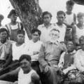 leprosy colony Hawaii Kalaupapa community group shot