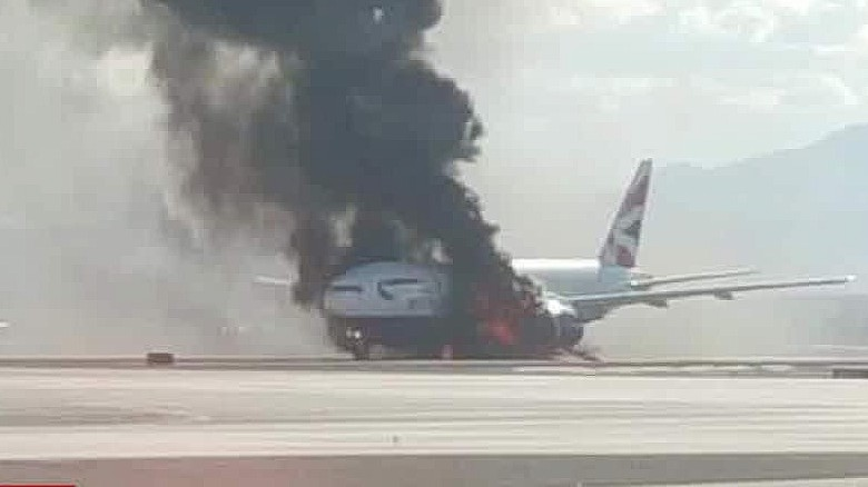 las vegas british airways plane catches fire hampton beeper erin _00015515