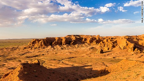 South Gobi's Flaming Cliffs -- Mongolia's answer to the Grand Canyon.