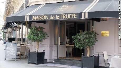 Who says baked potatoes can't be fancy? La Maison de la Truffe serves them topped with truffles.