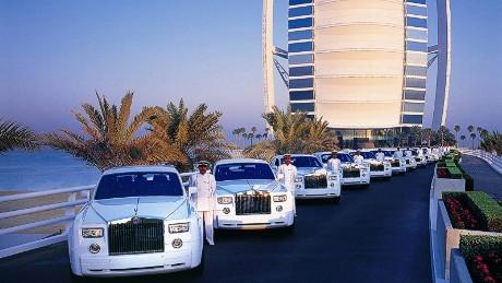 Burj Al Arab fleet of Rolls Royces