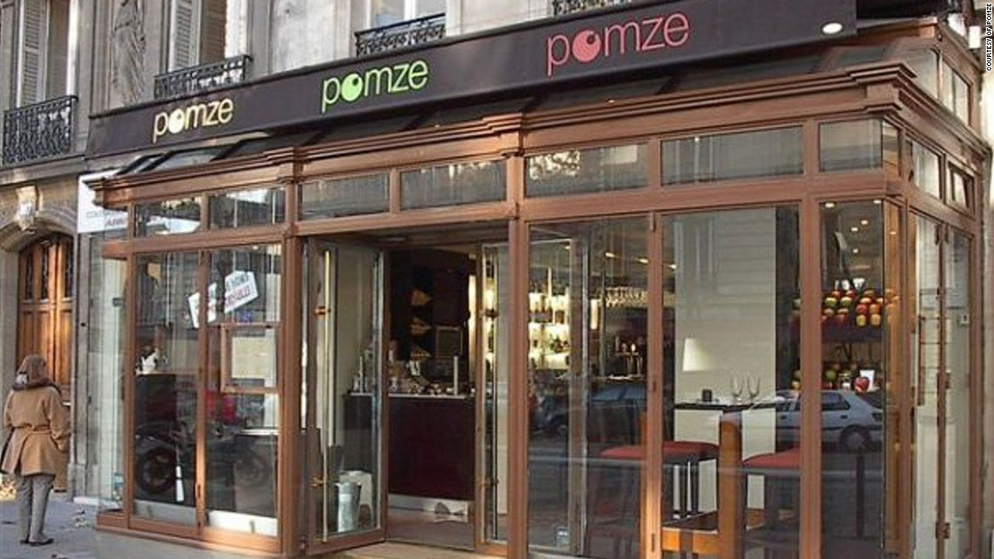 "The team at Pomze, in the 8eme arrondissement, are evangelists for the humble apple: ""They are like notes for our musical score, like colors for our palette."" There's a touch of ""pomme"" in every dish here."