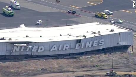 hangar collapses at Newark airport vo nat_00000000