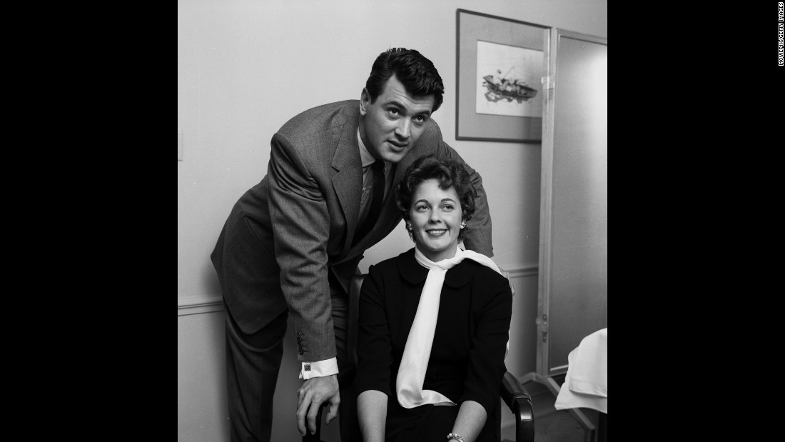 "The actor married his agent's secretary, Phyllis Gates, in 1955. Gates had moved in with the star a year earlier. ""For Rock, living with Phyllis helped to normalize his reputation in Hollywood. People would say behind his back, with a wink, 'Did you hear -- Rock Hudson's got a lady living with him,'"" according to ""Rock Hudson: His Story,"" an authorized biography by Sara Davidson published after his death. The marriage lasted less than three years."