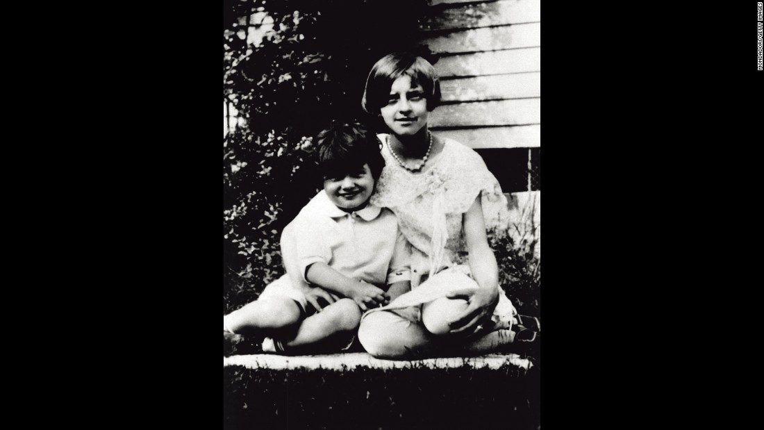 The future superstar cuddles with his Aunt Evelyn in 1927. He was born Roy Harold Scherer Jr. on November 17, 1925, in Winnetka, Illinois, north of Chicago. His father deserted the family in the early '30s, and the boy became known as Roy Fitzgerald when his stepfather adopted him. After a stint in the Navy in World War II, the young man headed to California with dreams of becoming an actor. But first he needed a movie star name -- his agent came up with Rock Hudson.