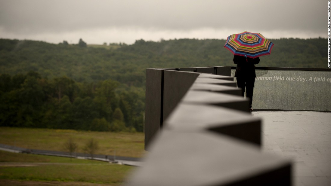 A visitor tours the crash site at the Flight 93 National Memorial on September 10. The visitor center complex was dedicated in honor of the victims of Flight 93 on the evening of the 14th anniversary of the 9/11 attacks.