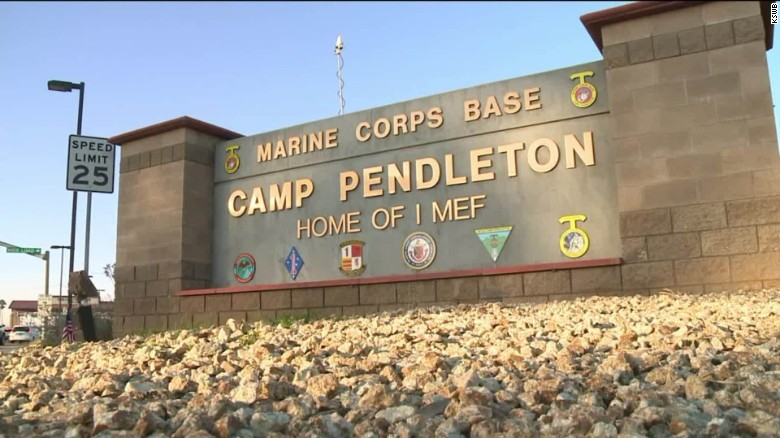 marine killed in camp pendleton accident in california
