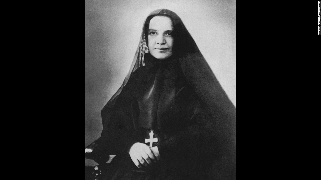 <strong>St. Frances Xavier Cabrini</strong> (1850-1917), known as Mother Cabrini, was the first American citizen to be canonized. The Italian-born nun founded the Missionary Sisters of the Sacred Heart of Jesus, and was canonized in 1946.