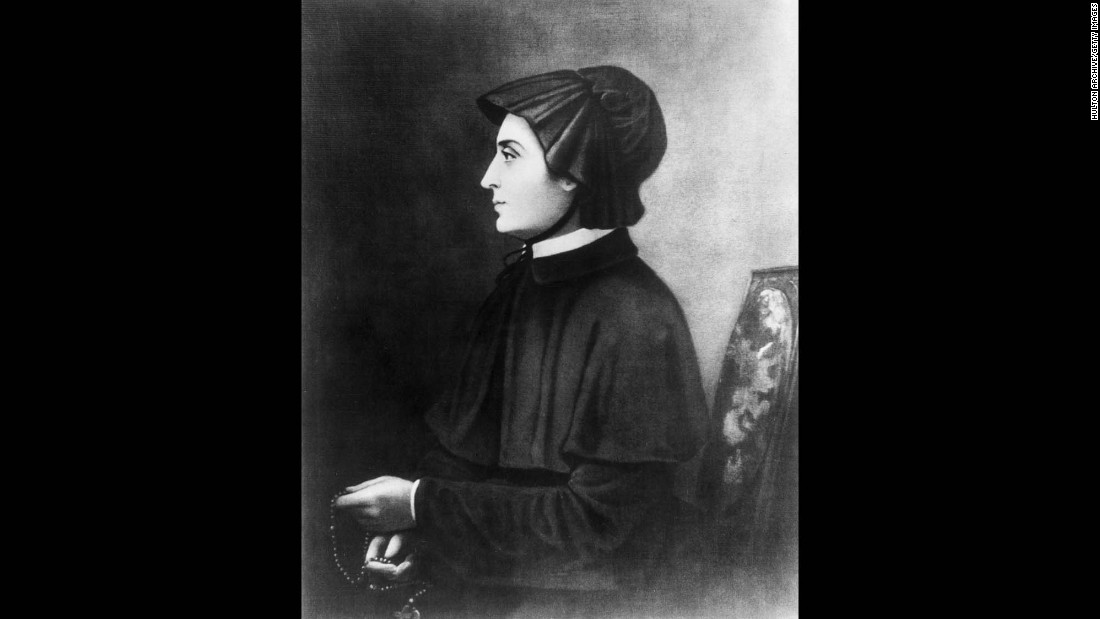 <strong>St. Elizabeth Ann Bayley Seton</strong> (1774-1821) was canonized as the first American-born saint in 1975. Seton converted to Catholicism after her husband's death. She founded the Sisters of Charity of St. Joseph, the first order of religious women in America, as well as several schools.