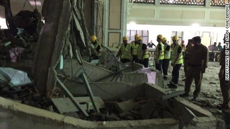 A crane collapsed Friday evening at one of Islam's most important mosques -- Mecca's Masjid al-Haram, or Grand Mosque -- killing at least 87 people and injuring 184 others, Saudi Arabia's civil defense authorities said Friday on Twitter.