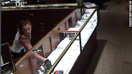 Police in Panama City Beach, Florida, released this photo of a suspect in a jewelry store robbery.