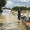 Japan floods road