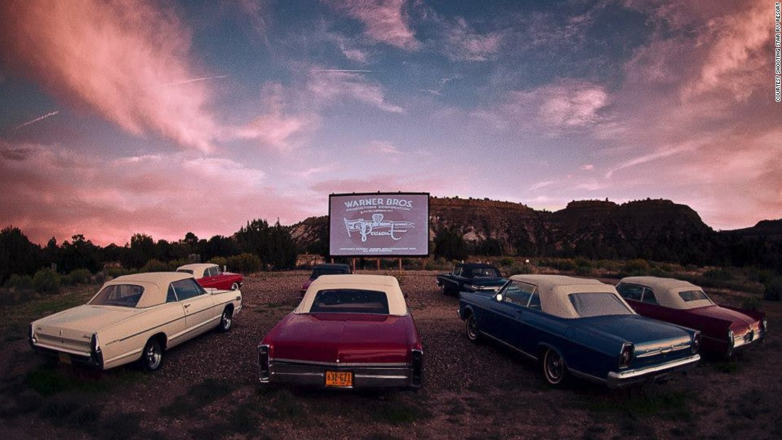 "When the sun goes down, so do the tops on the classic 1960s convertibles parked at the <a href=""http://www.venuereport.com/roundups/22-incredible-outdoor-cinemas-worldwide/entry/4/"" target=""_blank"">Shooting Star RV Resort</a> every Tuesday, Thursday and Saturday evening. With Red Rocks Canyon as the screen's backdrop, reality may be just as fabulous as what's on-screen."