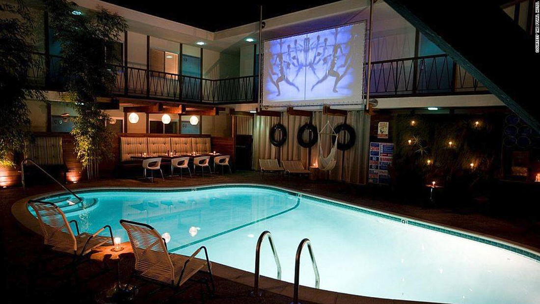"For those looking for a sweet spot to swim and check out their favorite cinematic classics, San Diego's <a href=""http://www.venuereport.com/roundups/22-incredible-outdoor-cinemas-worldwide/entry/21/"" target=""_blank"">The Pearl </a>gleams like a retro modern beacon. Thanks to San Diego's fantastic weather, movies are screened every Wednesday night at 8 p.m. through November."