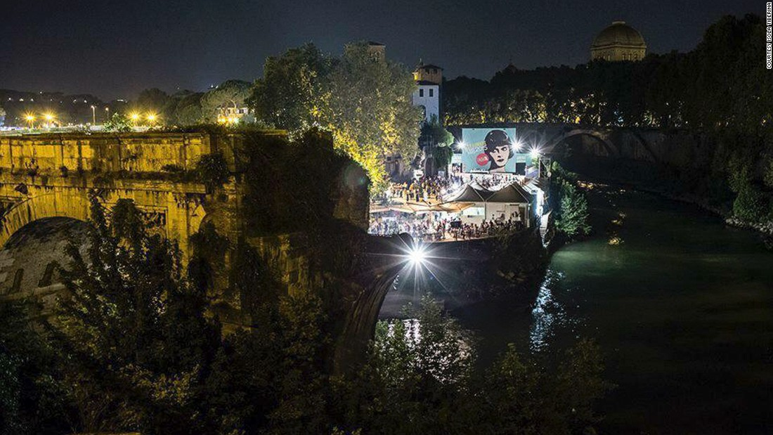 "One of the most famous open-air film festivals in Italy, <a href=""http://www.isoladelcinema.com/"" target=""_blank"">L'Isola del Cinema</a> takes place every year from June to September. The cinema is set beneath the romantic shadow of the bridge of Isola Tiberina on the only island in the Tiber river, which runs through Rome."