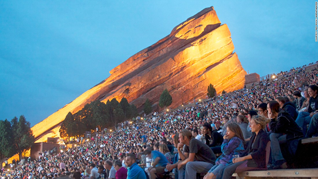 "Ever thought you'd sit with 16,000 of your closest friends to watch a movie in an ""acoustically perfect"" amphitheater described by some as ""carved by Mother Nature herself?"" Every summer, the<a href=""http://www.venuereport.com/roundups/22-incredible-outdoor-cinemas-worldwide/entry/16/"" target=""_blank""> Red Rocks Amphitheater's</a> Film on the Rocks season hosts a series of move screenings, each of which is preceded by a comedian and a performance by a local band."