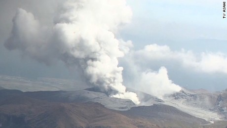 NS Slug: JAPAN: MOUNT ASO ERUPTS (AERIALS)  Synopsis: Japan's Mount Aso erupts.  Video Shows: Eruption of Mount Aso in Japan (Aerials)    Keywords: JAPAN VOLCANO ERUPTS ERUPTION